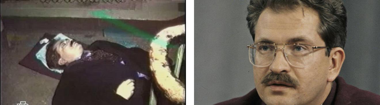 Влад Листьев. Убит двумя выстрелами в подъезде